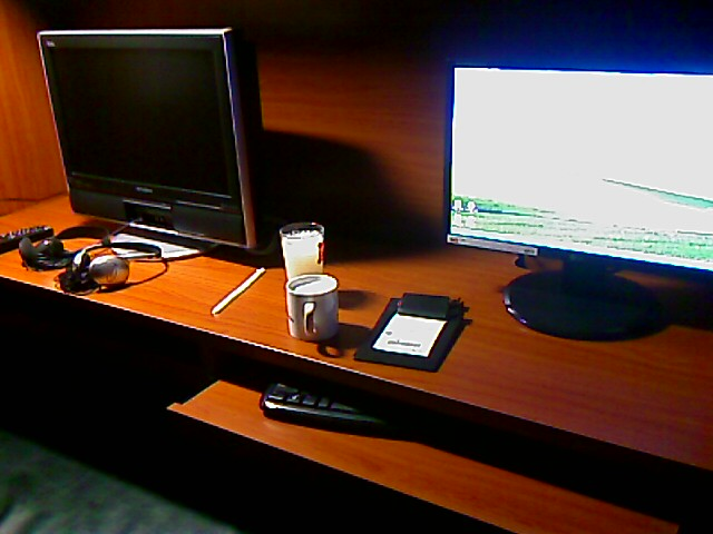 La TV (HD) y el monitor de la computadora