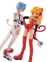 Figuras de Rei Ayanami y Souryu Asuka Langley, de 'Shin Seiki Evangelion'