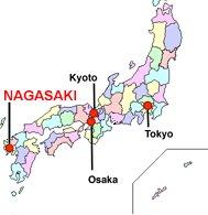 Nagasaki en el mapa