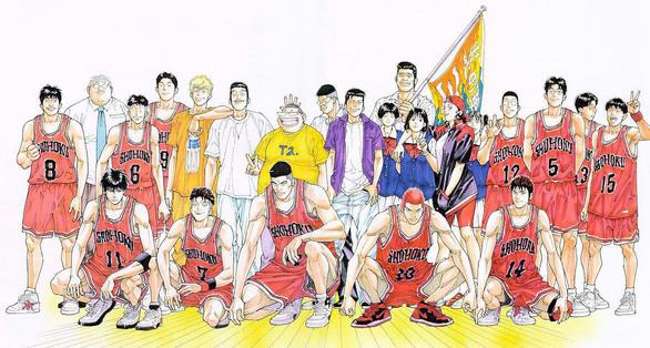 El equipo de Shohoku en el torneo nacional